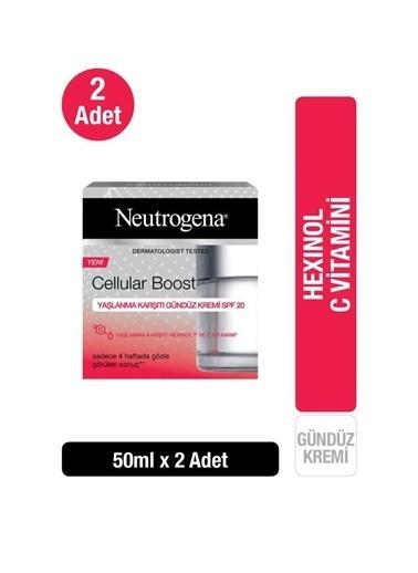 Neutrogena Cellular Boost Yaşlanma Karşıtı Gündüz Kremi Spf 20 50Mlx 2 Adet Renksiz